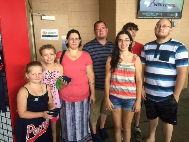 Peoria Chiefs' Honor Families of the Fallen August 2016-09